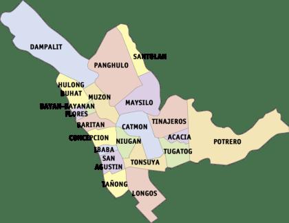 Map of Malabon Barangays | Malabon Barangay Elections 2013