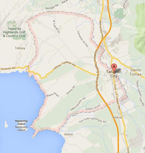Map of Tanauan City | Tanauan City Barangay Elections 2013