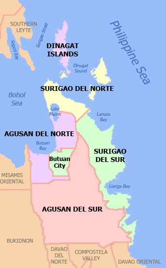 Political Map of CARAGA