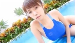 菜乃花 青い競泳水着でエロい身体かわいい表情しながらたっぷり見せてくれる
