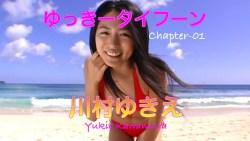 川村ゆきえ 赤いビキニで砂浜を転がったり