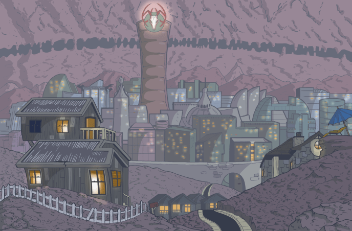 "Concept art for ""Furcifer City""."
