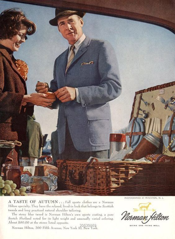 1960s,USA,Norman Hilton,Magazine Advert