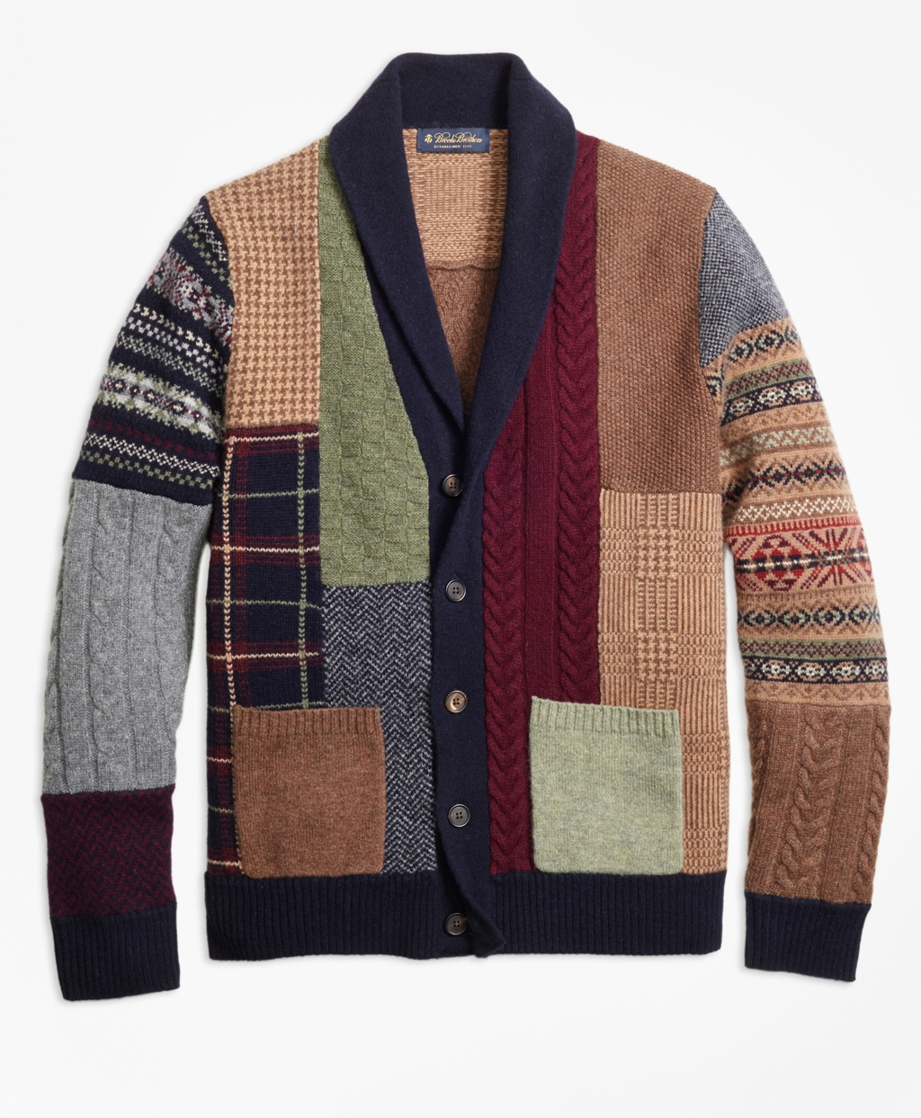 Panel Discussion The Brooks Brothers Patchwork Cardigan