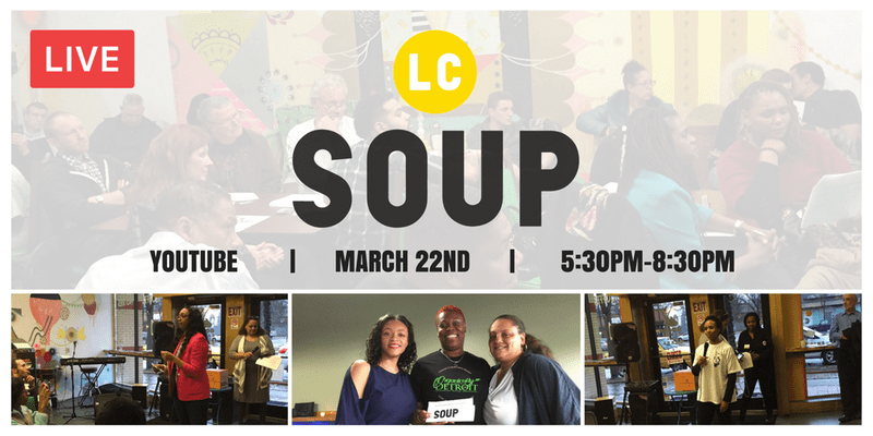 I get to pitch at Livernois Corridor Soup! - IvyLocs