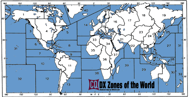 CQ MAP Zones