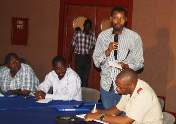 """Muhozi a dénoncé un langage de bois dans les réponses, """"alors que la situation est grave"""" ©Iwacu"""