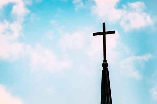 十字架がついた