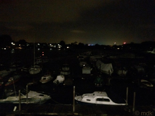 Cobden Bridge in the dark