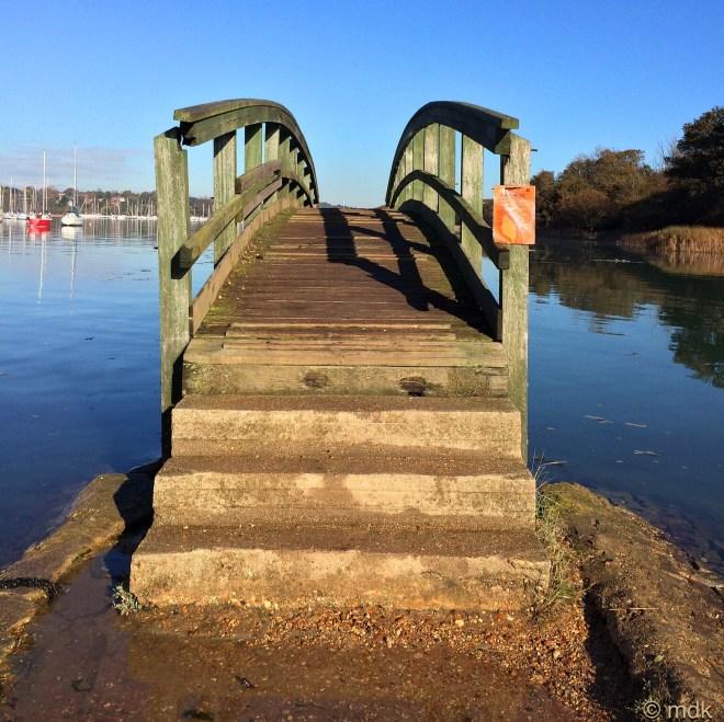 A very steep bridge