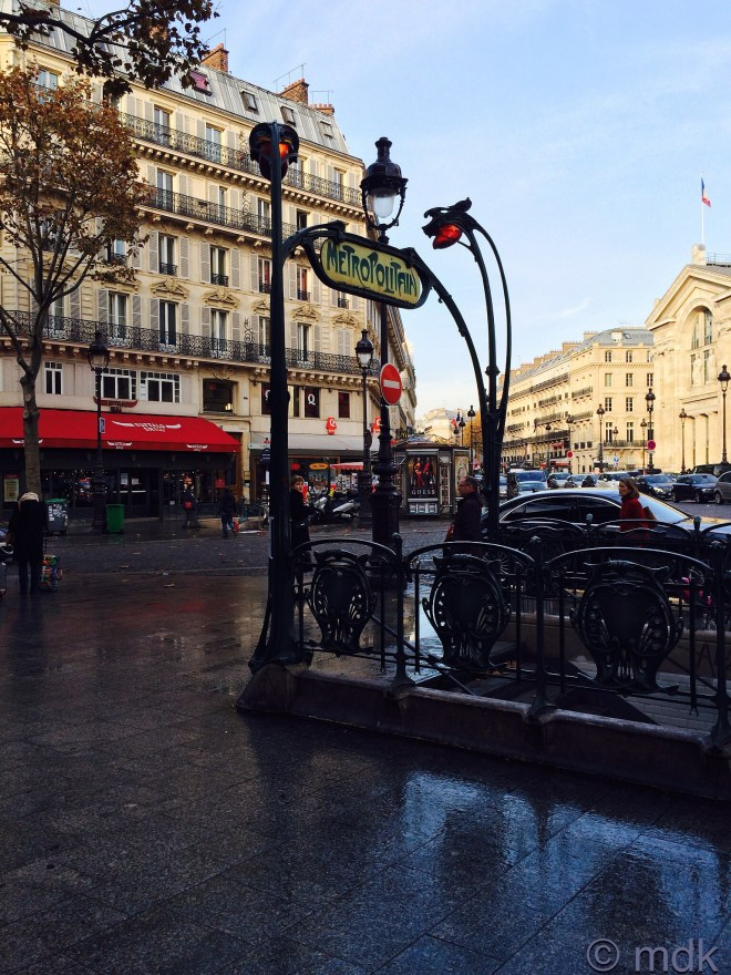 Wet pavements and sunshine, bonjour Paris