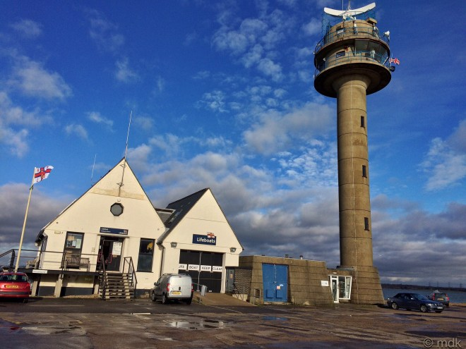 Calshot tower and lifeboat station