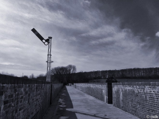 Restored signal, Hockley Viaduct
