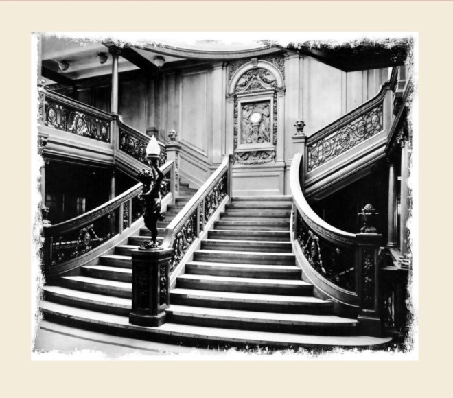 Grand staircase  on Titanic
