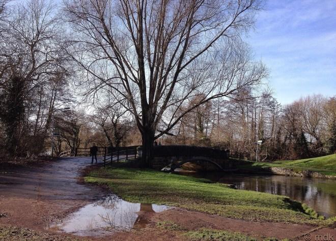 Big puddle at Mansbridge