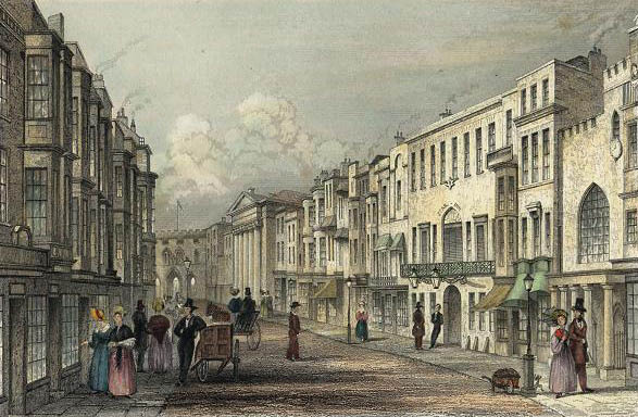 The High Street in 1839