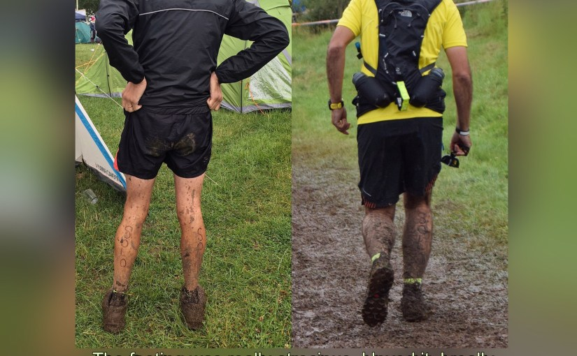 Wet, muddy and probably hallucinating