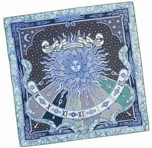 Hermes Scarf Blue
