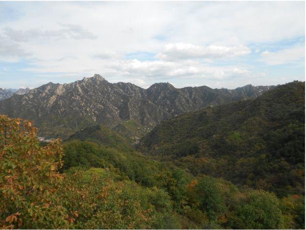 Great Wall Watch Towers along mountain ridge