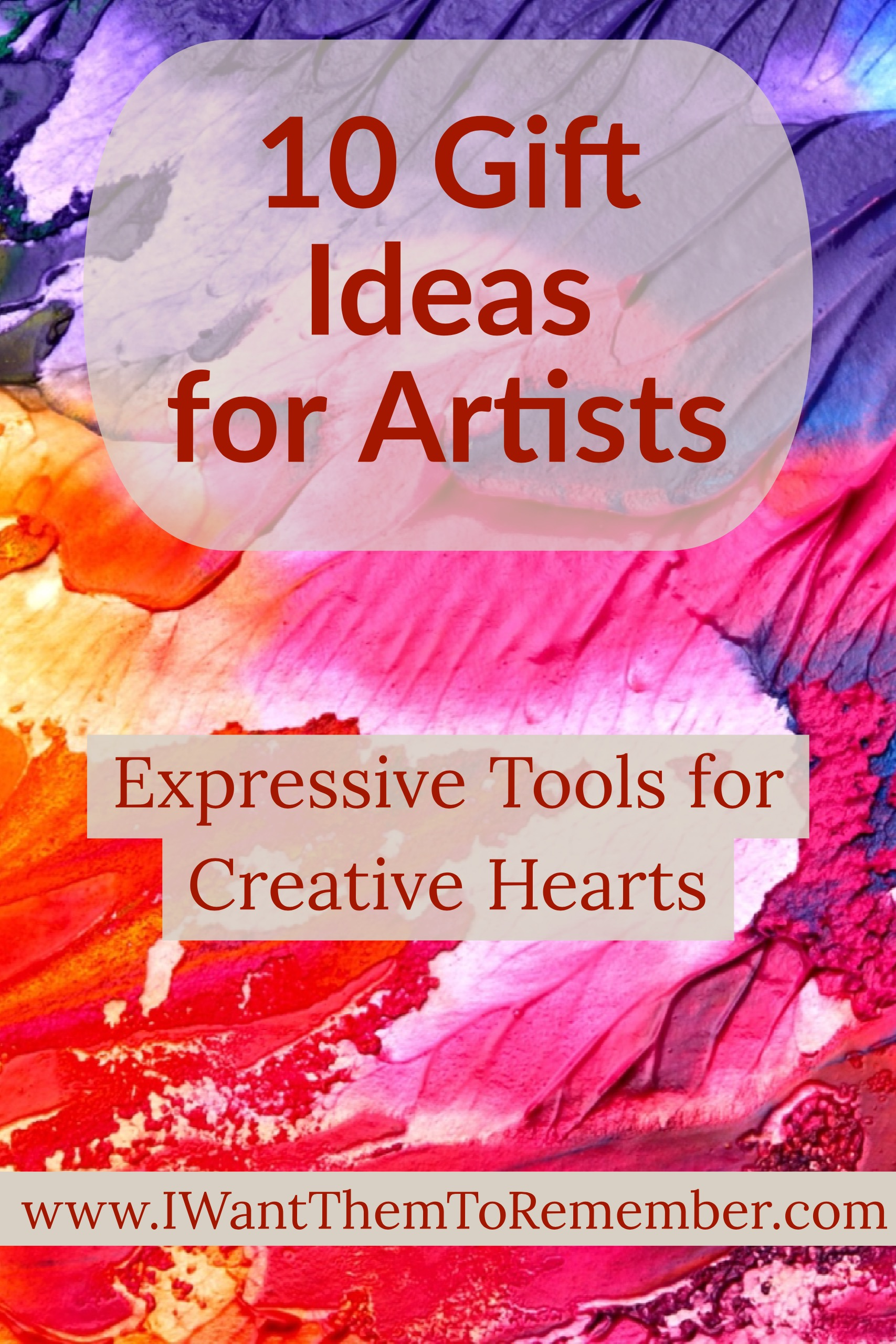 I really want to give gifts that are thoughtful and match the personality and interests of each special person in our life. Several people in our family love creativity and express themselves through art. If you have someone like this on your gift list, check out these gift ideas for artists.