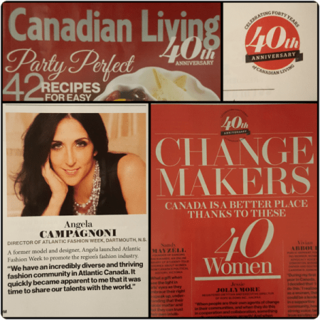 Angela Campagnoni, Canadian Living Magazine 40 Change Makers