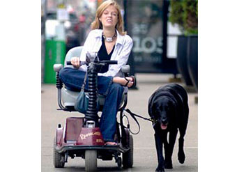 Josie Badger walking her dog