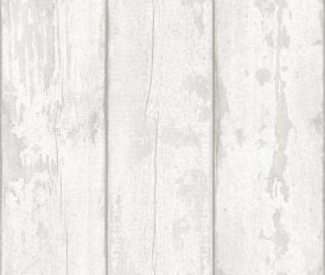 Arthouse White Washed Wood Panel Pattern Wallpaper Faux Effect Distressed Beam