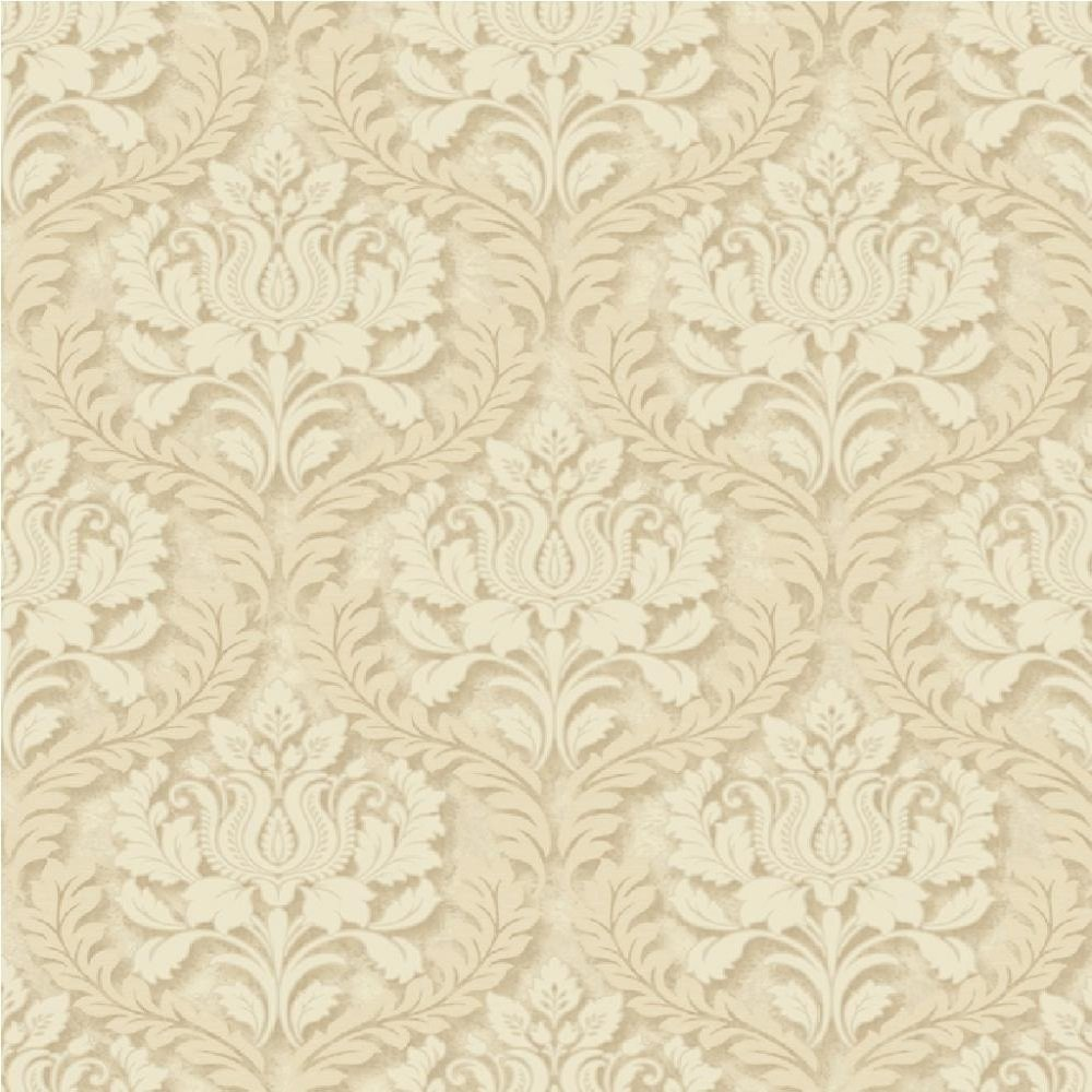 Embossed Damask Wallpaper