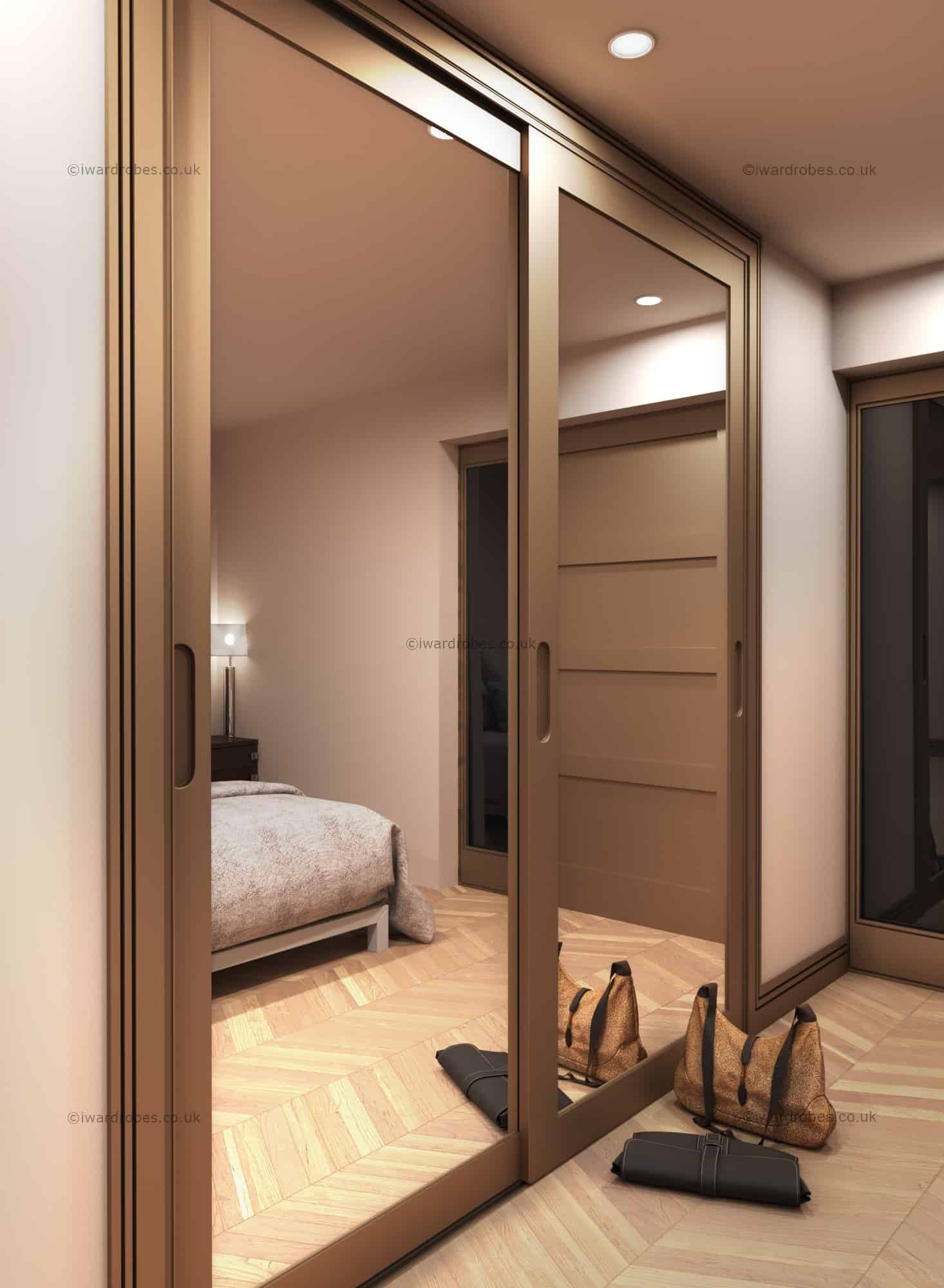 Fitted Mirror Sliding Door Wardrobe Modern And