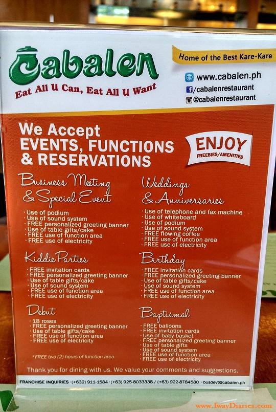 Filipino Buffet With A Fair Price At Cabalen Restaurant
