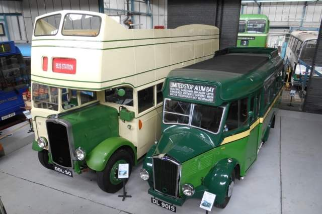 On display in the new Isle of Wight Bus & Coach Museum are 1934 Dennis Ace (DL9015) & 1940 Bristol K (DDL50)
