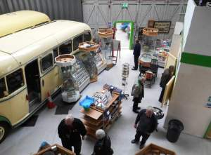The Shop area of the  Isle of Wight Bus & Coach Museum at Ryde.