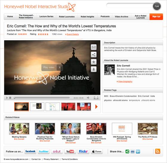 Our Honeywell Interative Studio wins WMA's Outstanding Achievement in Web Development