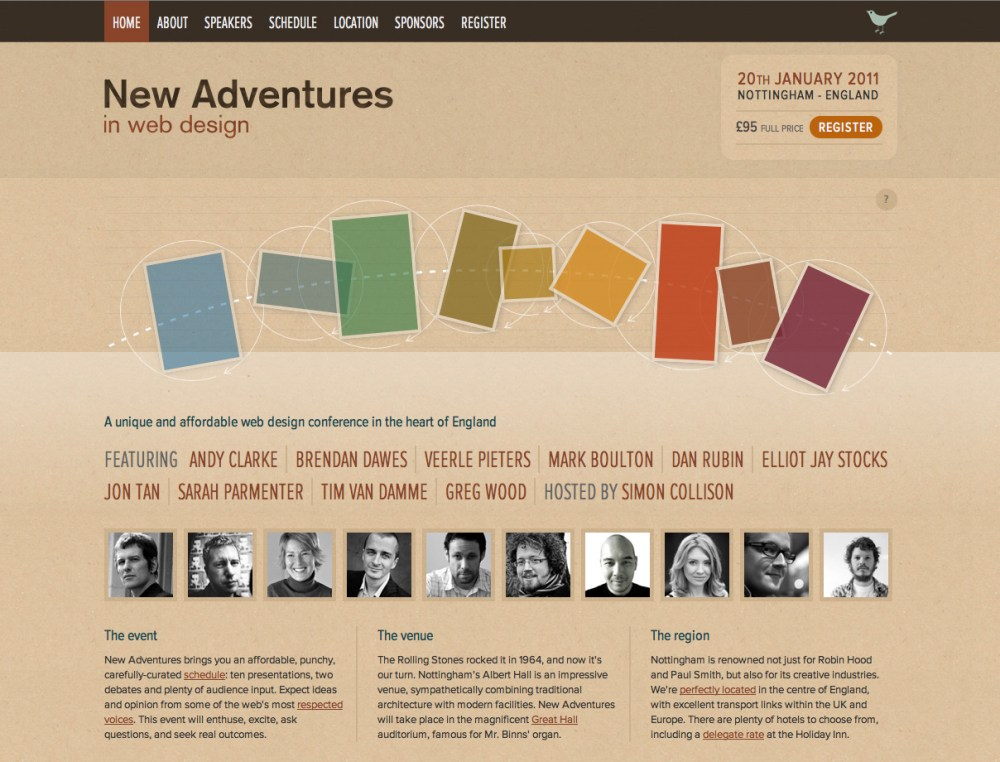 New Adventures in Web Design; Conference