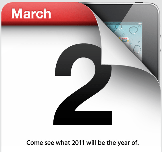Apple sends out Invites for their March 2nd iPad event