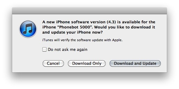 Apple release iOS 4.3