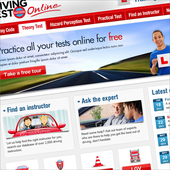 Driving Test Success new website teasers
