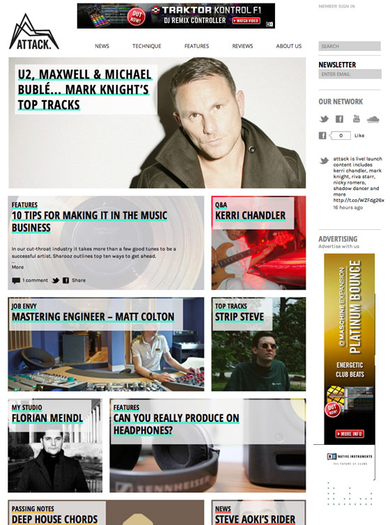 iWeb pushes all the right buttons for electronic music magazine