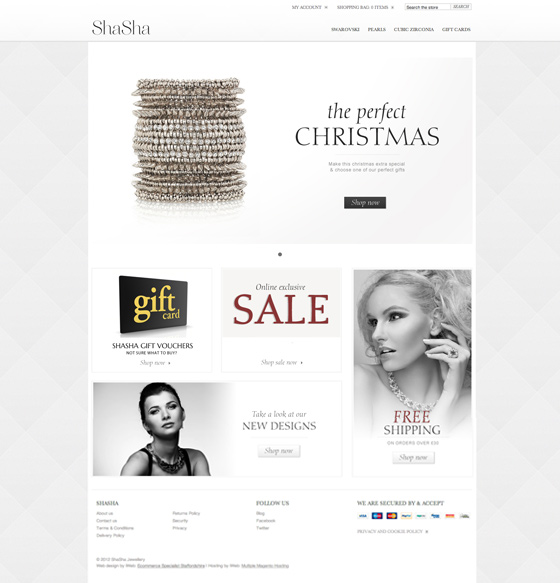 Magento sparkles for jewellery eCommerce business