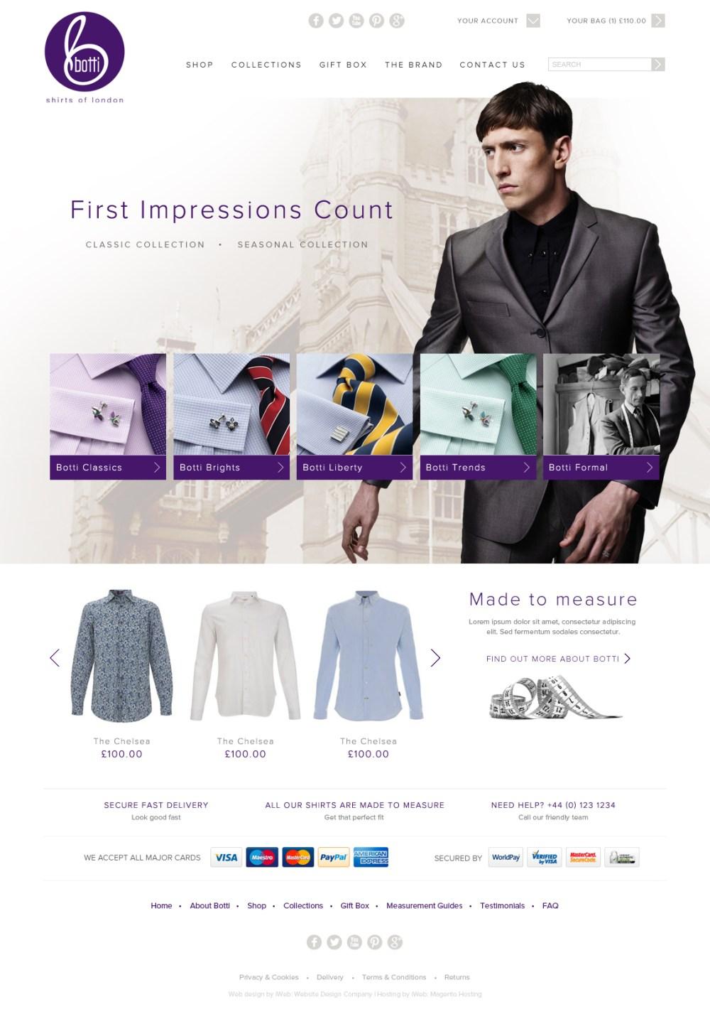 Magento more than measures up for quality shirt retailer