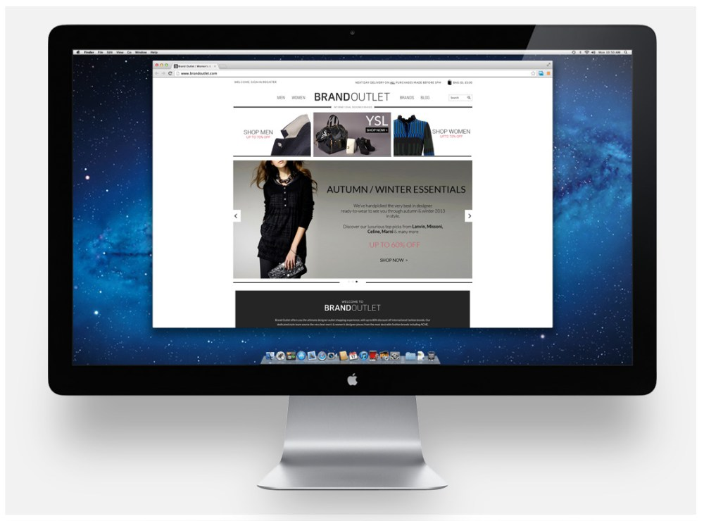 Designer brands web site is tailor-made by iWeb