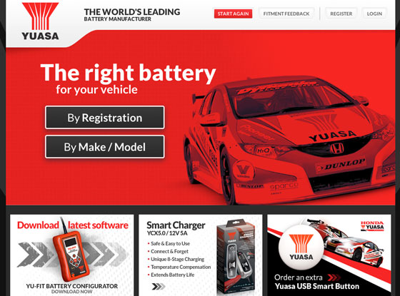 Yuasa | Mobile | Battery Lookup Magento B2B Case Study | iWeb Magento eCommerce Agency