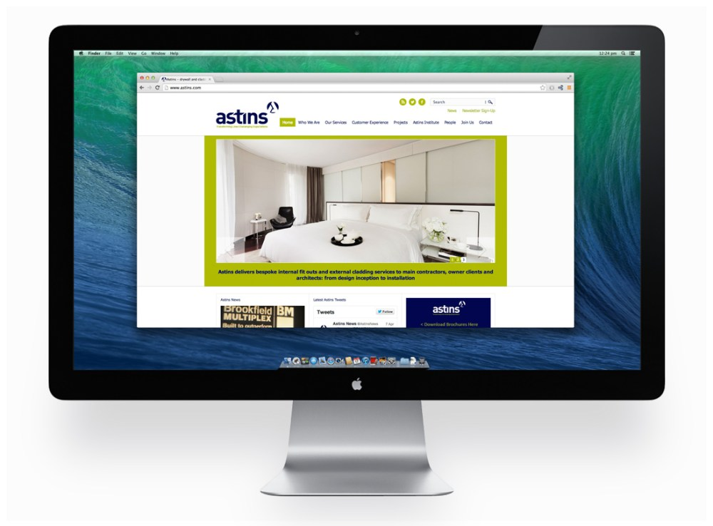New Astins web site builds on outstanding success in the construction industry