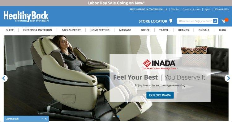 healthyback.com   websites using Magento 2