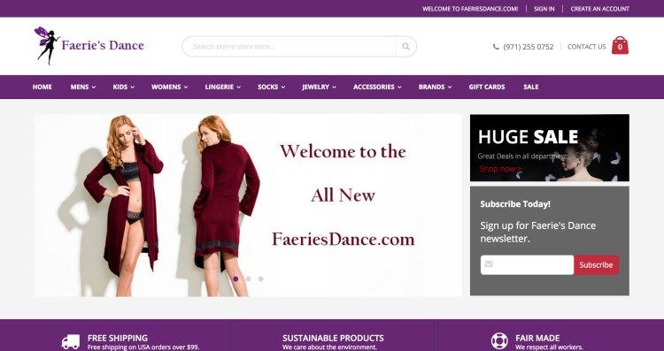 www.faeriesdance.com | Magento 2