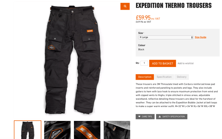 Product Pages that Sell | Scruffs Workwear