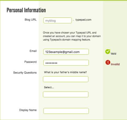 Form Validation     Principles of Mobile Website Design