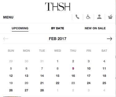 Visual Calendar | Principles of Mobile Website Design