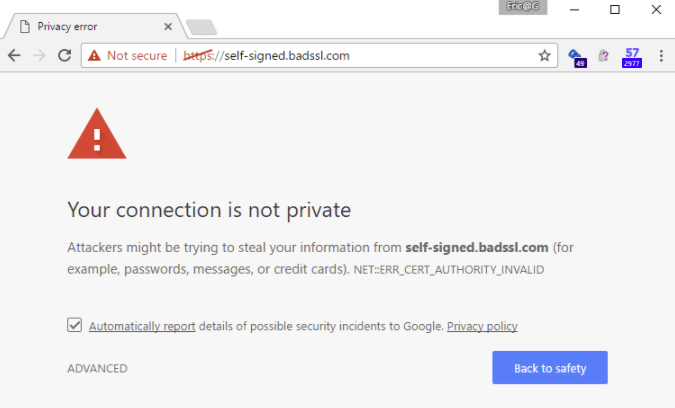 Not secure HTTP | iWeb