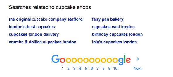 Google Search Results | Website Optimisation for Local SEO